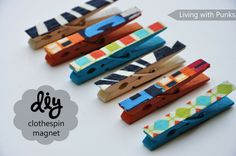 Clothespin-magnets
