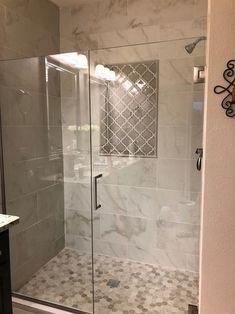 Bathroom Trends, Bathroom Renovations, Bathroom Interior, Bathroom Designs, Shower Tile Designs, Master Bathroom Remodel Ideas, Bathroom Shower Remodel, Small Master Bathroom Ideas, Shower Tile Patterns