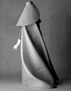 Cristóbal Balenciaga- quoted the King of Dressmakers. Here is a coat c. 1950. Popular French designer in the world of Postworld fashion.