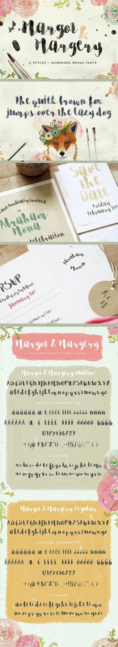 Margot & Margery - Script Fonts
