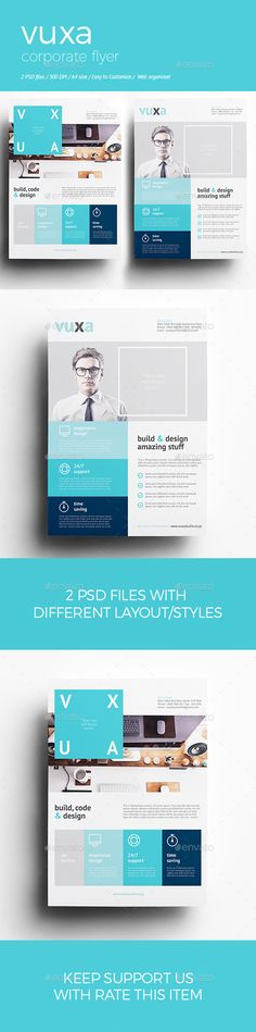 Creative and Minimalist Multipurpose Business Flyer Template PSD - corporate flyer template