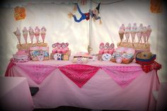 "Photo 1 of Cowgirl Birthday Party / Birthday ""Andrea's Birthday Party"" Sheriff Callie Birthday, Cowgirl Birthday, Cowgirl Party, 5th Birthday Party Ideas, Birthday Fun, Cowgirl Baby Showers, Rapunzel, Western Parties, Farm Party"