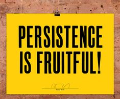 'Persistence is Fruitful!' the limited edition artwork by artist Anthony Burrill. Available to buy online at Nelly Duff.