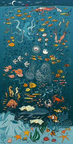 Under the Sea Poster by Vikachu on Etsy, $12.00- poster idea