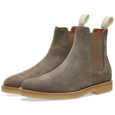 Common Projects Woman By Chelsea Boot Suede In Grey Common Projects Chelsea Boots, Common Projects Women, Chelsea Shoes, Pairs, Heels, Collection, Shopping, Style, Fashion