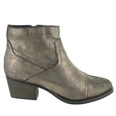 Marta Jonsson Gold Ankle Boot with a Zip