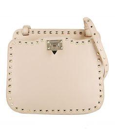 Rivets Embellished Pure Color Shoulder Bag