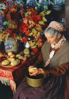 Wiccan Art, Pagan, Tudor Cottage, Scary Places, Corgi Dog, Kitchen Witch, Pilgrim, Autumn, Fall