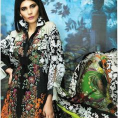 Sana Safinaz Embroidered Lawn Dress, Master Quality Replica