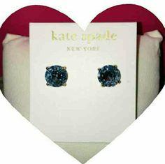 Kate Spade Grace Blue gum drop earrings Kate Spade Grace Blue gum drop earrings kate spade Jewelry Earrings