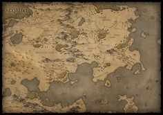 ArtStation - Map of Scyllhia, Karin Wittig