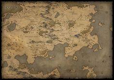 ArtStation - Map of Scyllhia, Karin Wittig