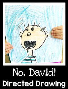 No, David! Directed Drawing - First Grade Blue Skies                                                                                                                                                                                 More