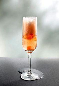 "Róse ""Champagne"" Cocktail - Sugar Cubes soaked in Hibiscus Rose Bitters, Chandon Róse, Grapefruit Peel. by elsa"