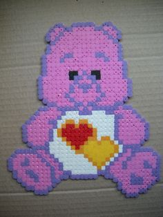 Care Bears Love hama beads by supercrea