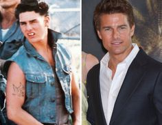 """""""The Outsiders"""" /Then & Now  - Tom Cruise"""
