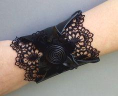 Boho wrist wallet /Wristlet  /Woman Wallets /Wrist band /Bohemian jewelry /Leather wallet bracelet /Lace /Black Leather cuff /Customer order by Homespirits on Etsy https://www.etsy.com/listing/244804462/boho-wrist-wallet-wristlet-woman-wallets