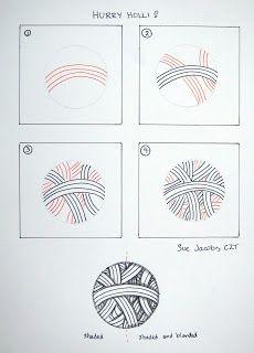 Hollibaugh tangleation ~ Hurry Holli by Sue Jacobs, Certified Zentangle Teacher ~ #CZT #CertifiedZentangleTeacher #Zentangle ~