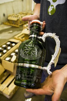 "Etched flip top beer growler  www.LiquorList.com  ""The Marketplace for Adults with Taste"" @LiquorListcom   #LiquorList"