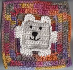 Square Bear Square Motif By Champygirl - Free Crochet Pattern - (crochetville)