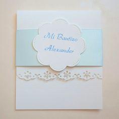dc51d20ce4b90 Hermosa y elegante invitación para el bautizo de tu pequeño