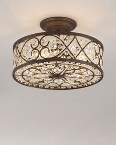 """Woven Crystal"" Ceiling Fixture at Horchow. would u like it for new house? it has vintage style but its new"