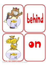 preposition cards --cute, free