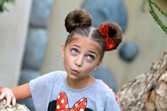 Minnie Mouse Buns | Hairstyle Tutorial and more Hairstyles from CuteGirlsHairstyles.com