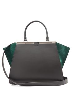 Click here to buy Fendi 3Jours contrast-panel leather and suede bag at MATCHESFASHION.COM