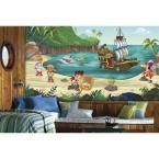 72 in. x 126 in. Jake and the Never Land Pirates XL Chair Rail Pre-Pasted Wall Mural, Multi