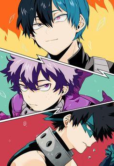 Boku no Hero Academia || Todoroki Shouto, Midoriya Izuku and Bakugou Katsuki || Color Change