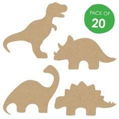 Wooden dinosaur shapes