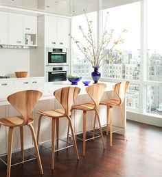 Home Decor, Unique And Marvelous Cool Bar Stool With The Smart And Unique Design Ideas For Your Room Decoration With Cute And Shiny Rustic Material With White Table In The Kitchen With Flower Vase And Storage ~ Create The Elegant Room With Using Cool Bar Stools