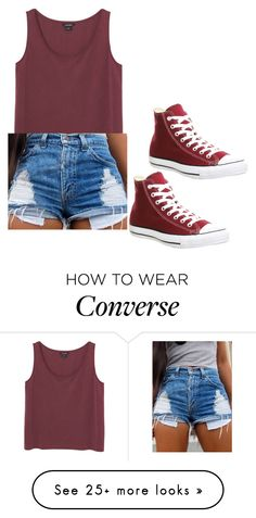 """Converse OOTD"" by itsbrianasanders on Polyvore featuring Monki and Converse"