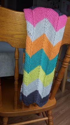 Chevron Knit Baby Blanket by josiestarr on Etsy, $65.00