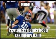 Haha I can't stop laughing at this! Watching the Broncs beat the giants was beautiful #PeytonsomuchbetterthanEli