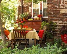 Dining in the garden