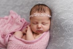 SET Pink Mohair Knit Baby Wrap and Tiny Pearls Headband | Beautiful Photo Props