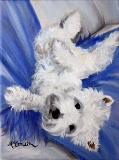 Mary Sparrow Westie west highland terrier PRINT dog portrait   Collectibles, Animals, Dogs   eBay!