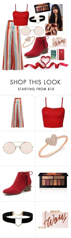 """""""be my valentine💋"""" by boqueefqueef ❤ liked on Polyvore featuring RED Valentino, WearAll, Sunday Somewhere, Anne Sisteron, Django & Juliette, Smashbox, Miss Selfridge and Ted Baker"""