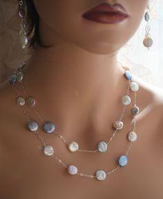 Resultado de imagen para coin pearl necklace