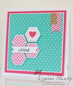 Stampin Up Six-Sided Sampler / Hexagon Card. Just Add Ink 183 - by Louise Sharp