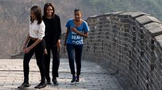OUR FIRST LADY MICHELLE OBAMA AND DAUGHTERS VISIT TO CHINA