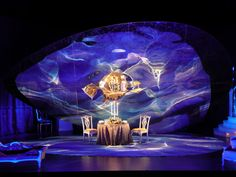 Vanessa. Scenic design by Francisco Rodriguez-Weil. 2011  Slowly changes into a cooler stark place - Scene 2