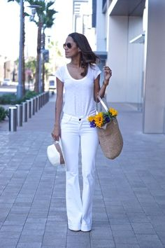 White j brand flare jeans fabfound @marshalls on clearance. white on white style, summer style