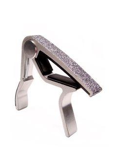 Glitter Guitar Capo in GlitzSugar Sparkling Silver!! <3