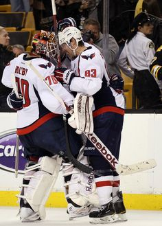 Jay Beagle and Braden Holtby on 4/25/12