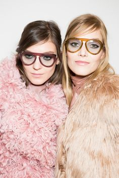 Gucci Backstage: Fall 2014.Sunnies..