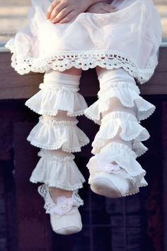 One Good Thread - Bed of Roses Frilly Footless Socks by Dollcake Oh So Girly, $22.00 (http://www.onegoodthread.com/bed-of-roses-frilly-footless-socks-by-dollcake-oh-so-girly/)