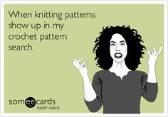 When knitting patterns show up in my crochet pattern search.